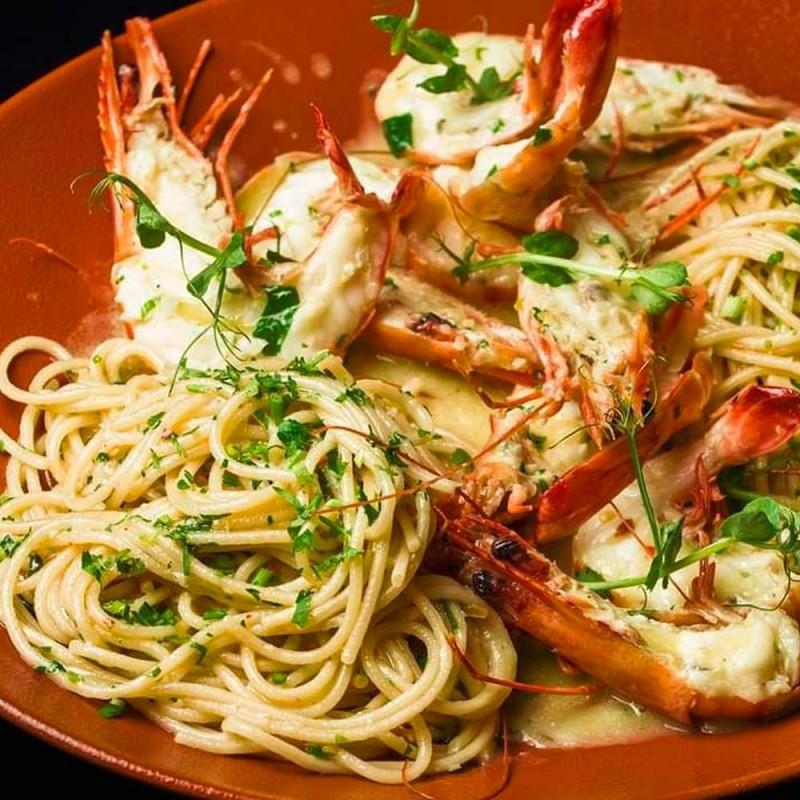 Spaghetti AOP Cu Creveti Jumbo