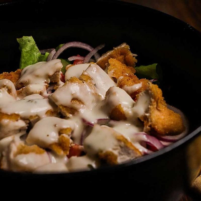 Salata Cu Snitzel De Pui